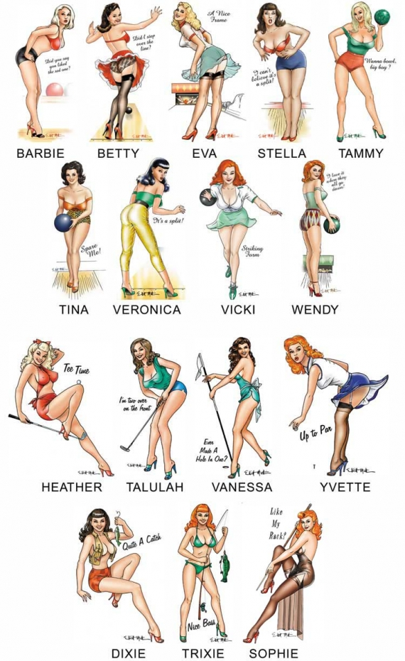 Lindas e perfeitas Pin Up's
