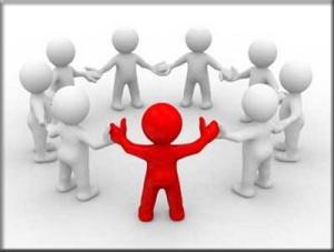 A liderança verdadeira  é aquela em que todos se encontram no mesmo nível.